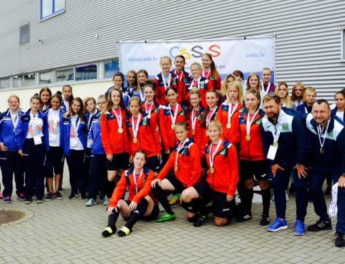 Ar sudrabu un bronzu no Latvijas Jaunatnes Olimpiādes Valmierā.